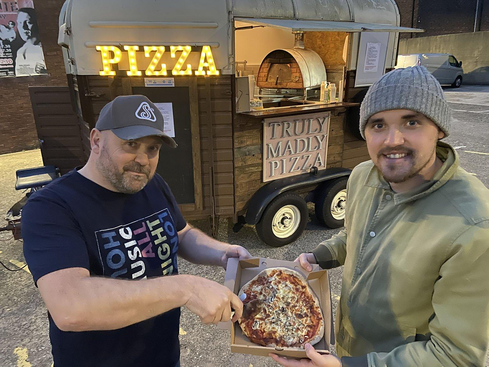 Stone-baked pizza trailer proves a hit after pitching up at Sunderland gym car park